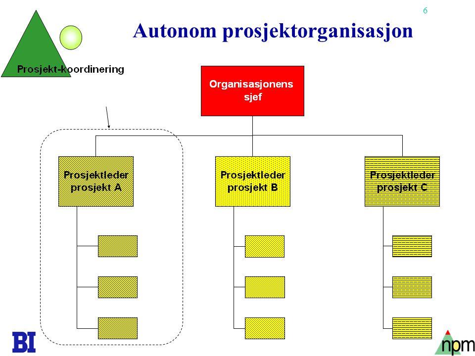 6 Autonom prosjektorganisasjon