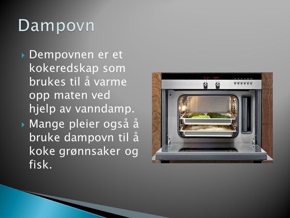  Steinovn er laget av stein og for å få den varm må man tenne bål under ovnen.