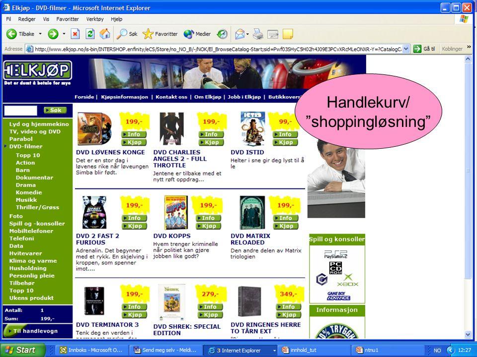 Handlekurv/ shoppingløsning