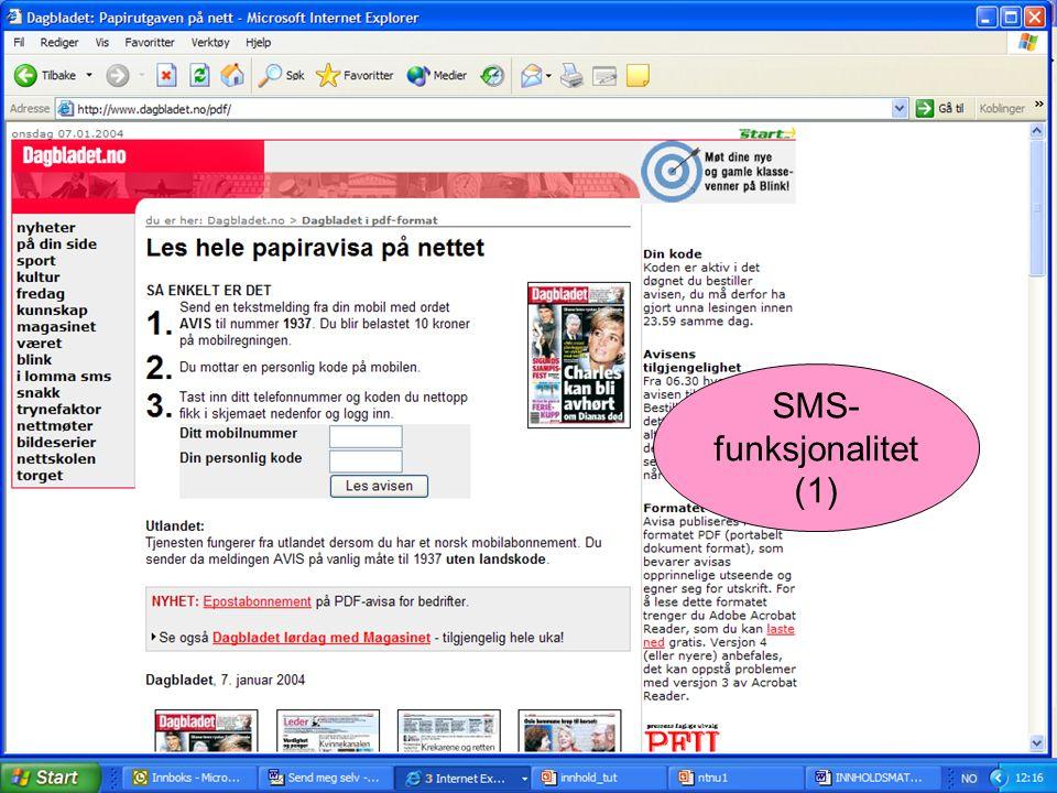 SMS- funksjonalitet (1)