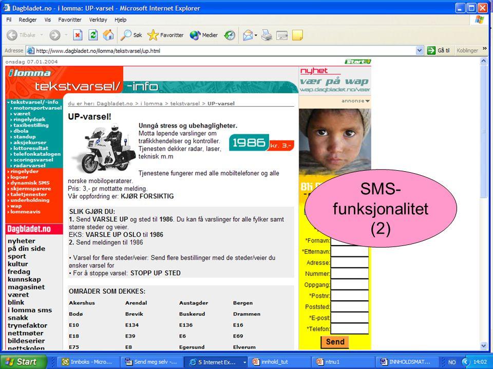 SMS- funksjonalitet (2)