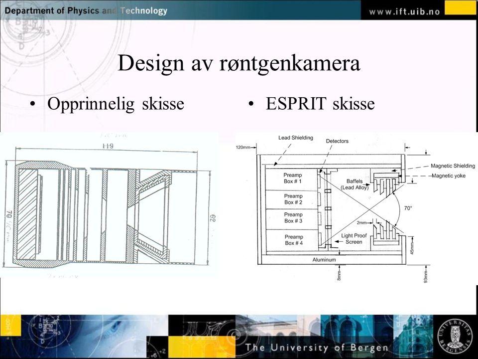 Normal text - click to edit Design av røntgenkamera Opprinnelig skisseESPRIT skisse