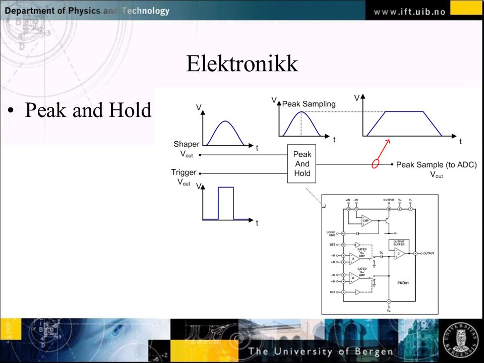 Normal text - click to edit Elektronikk Peak and Hold