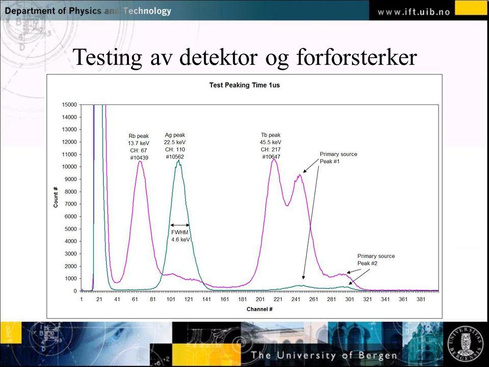 Normal text - click to edit Testing av detektor og forforsterker