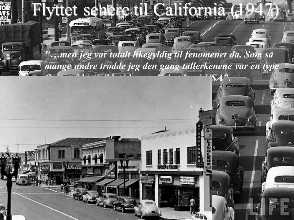 Begynte v.Lockheed Aircraft Corporation i Burbank, California, April 1952