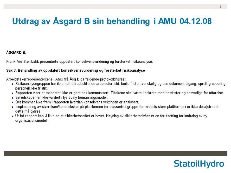16 Utdrag av Åsgard B sin behandling i AMU 04.12.08