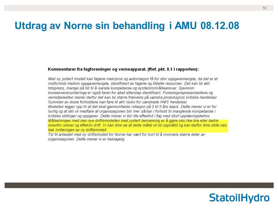 18 Utdrag av Norne sin behandling i AMU 08.12.08