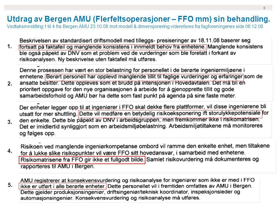 6 Utdrag av Bergen AMU (Flerfeltsoperasjoner – FFO mm) sin behandling.