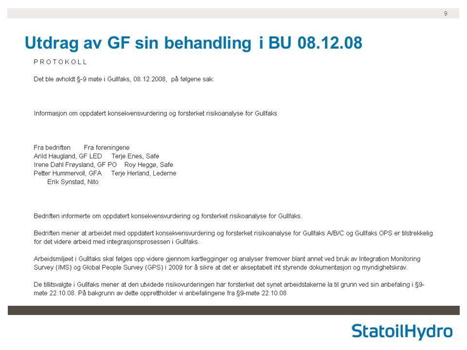 9 Utdrag av GF sin behandling i BU 08.12.08