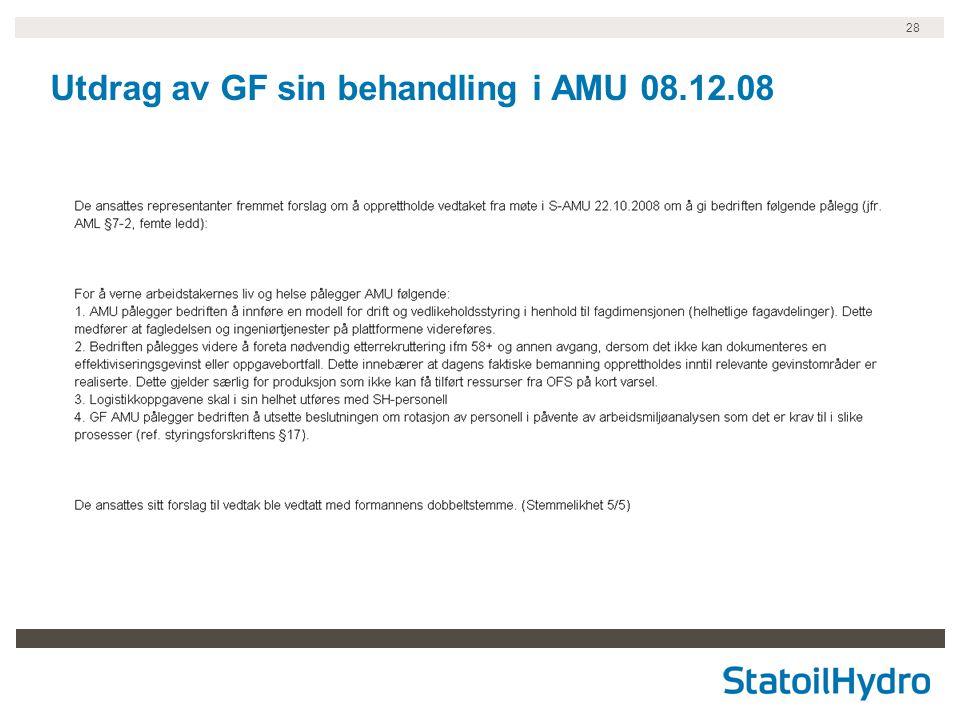 28 Utdrag av GF sin behandling i AMU 08.12.08