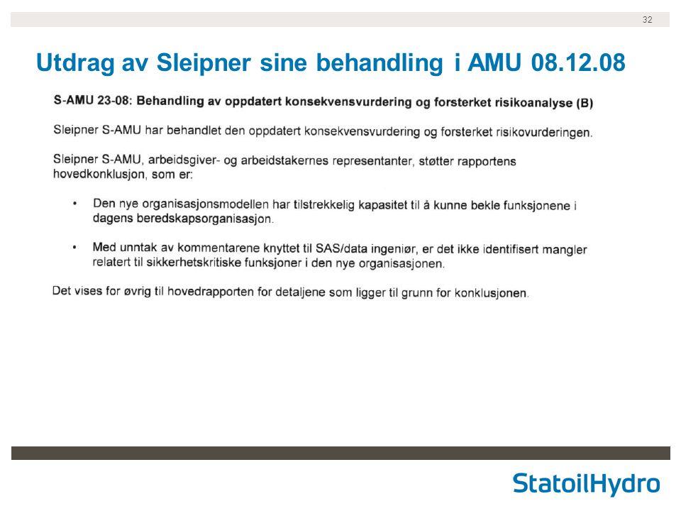 32 Utdrag av Sleipner sine behandling i AMU 08.12.08