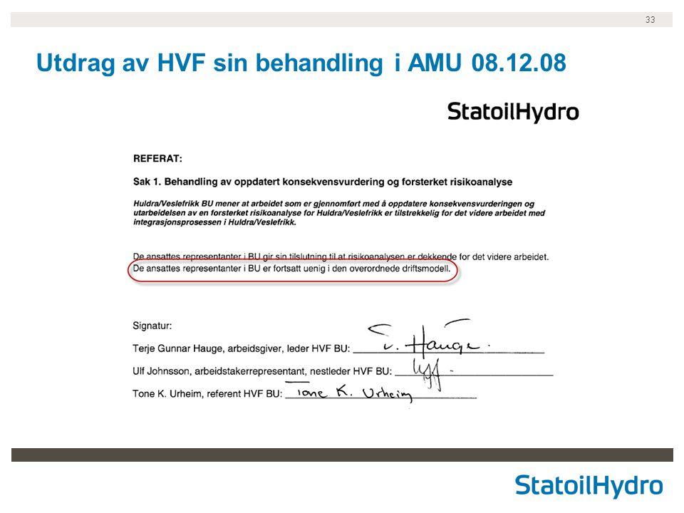 33 Utdrag av HVF sin behandling i AMU 08.12.08