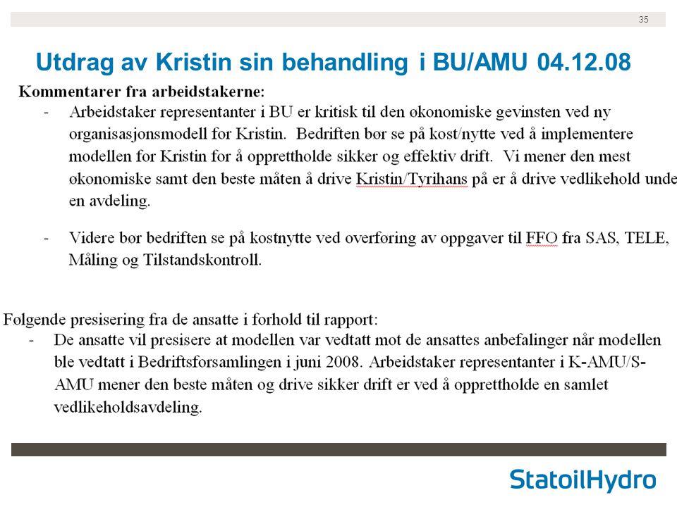 35 Utdrag av Kristin sin behandling i BU/AMU 04.12.08
