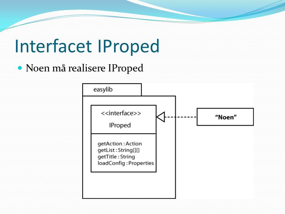 Interfacet IProped Noen må realisere IProped