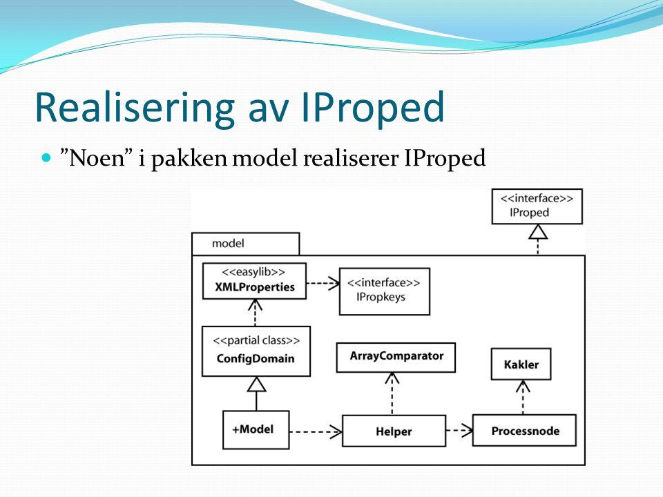 Realisering av IProped Noen i pakken model realiserer IProped