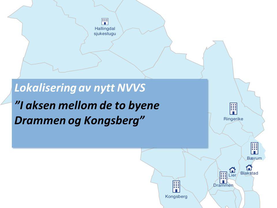 Lokalisering av nytt NVVS I aksen mellom de to byene Drammen og Kongsberg Lokalisering av nytt NVVS I aksen mellom de to byene Drammen og Kongsberg
