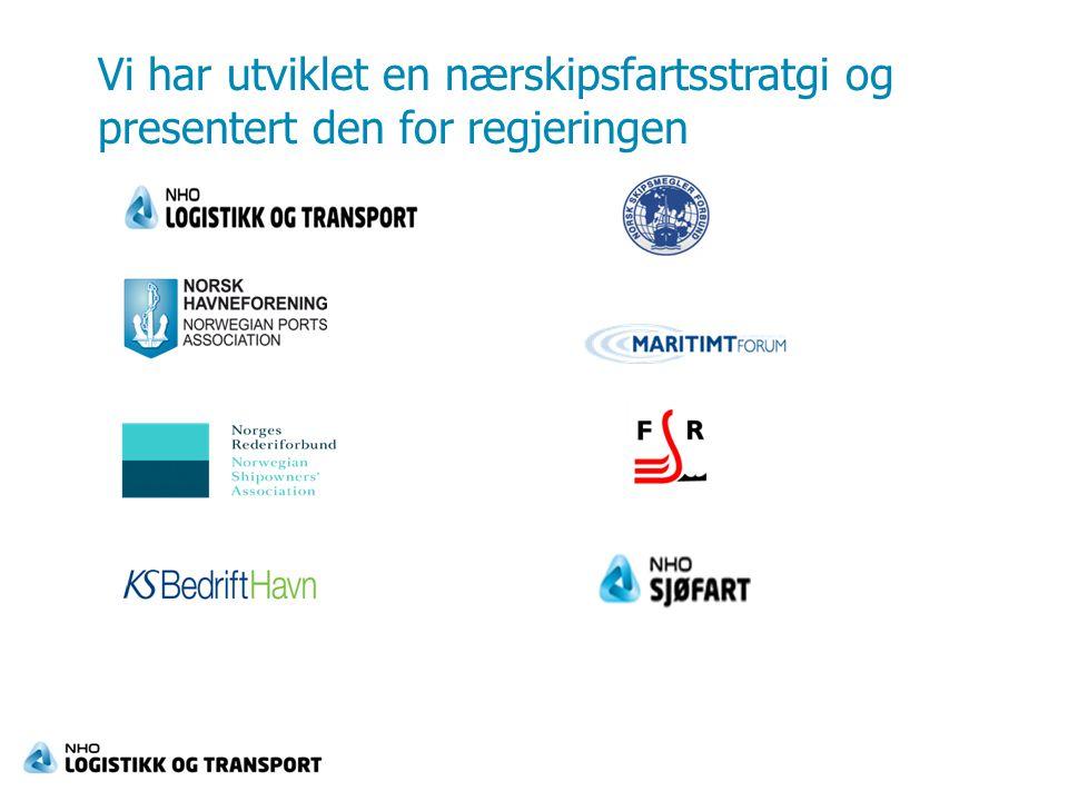 Vi foreslo 16 tiltak  Samarbeid mellom  Staten  Rederier  Havner, operatører  Vareeiere, speditører  3 av tiltakene var…