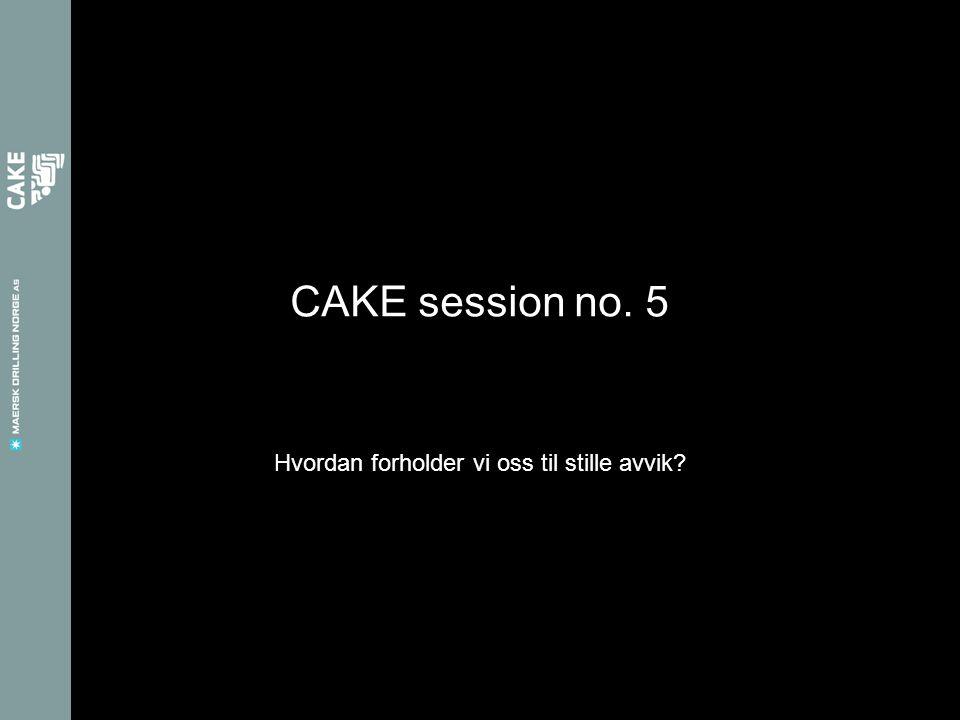 CAKE session no. 5 Hvordan forholder vi oss til stille avvik?