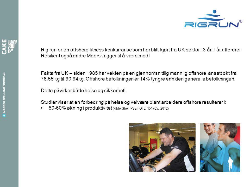 Rig run er en offshore fitness konkurranse som har blitt kjørt fra UK sektor i 3 år.