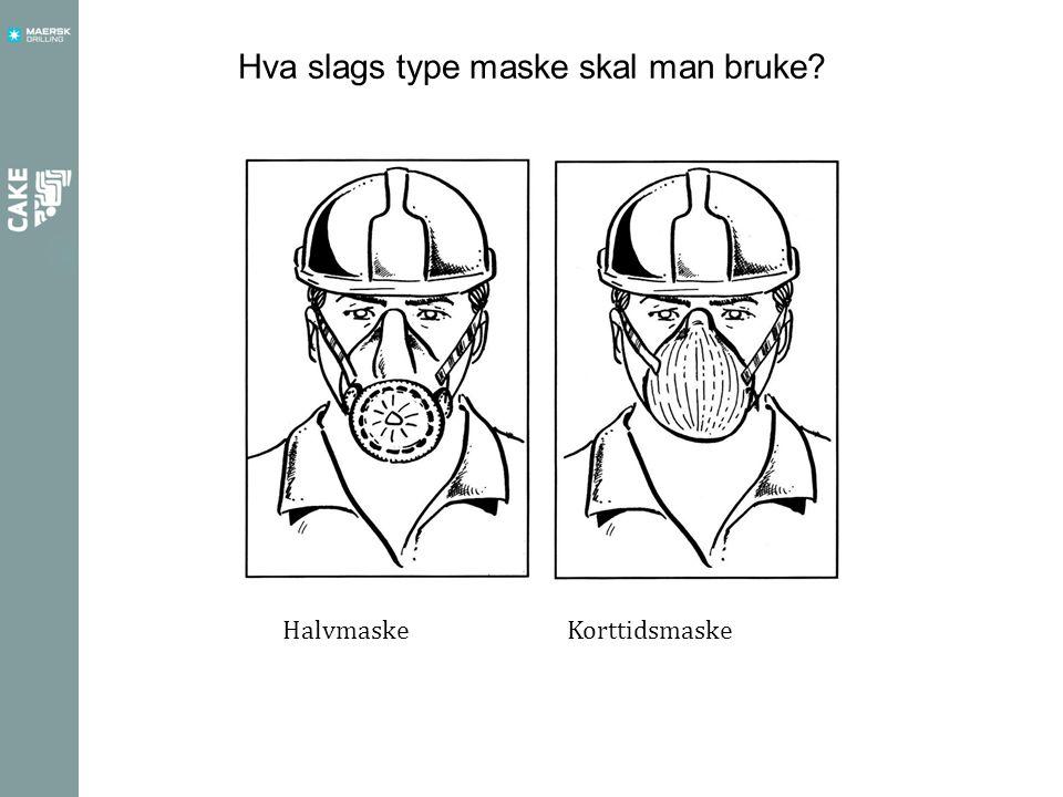 Hva slags type maske skal man bruke? HalvmaskeKorttidsmaske