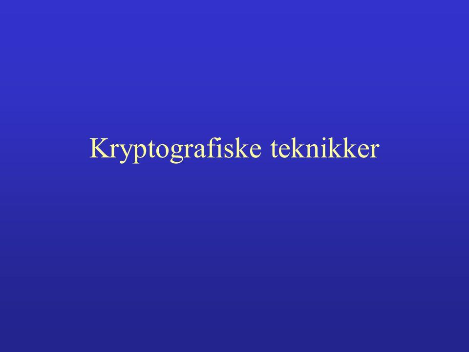 Kryptografiske teknikker