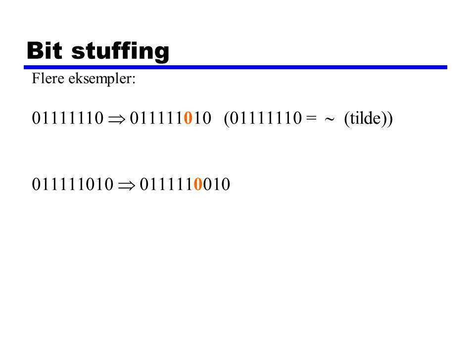 Buffer Size and Delay Data sendes i rammer på 1000 bit.