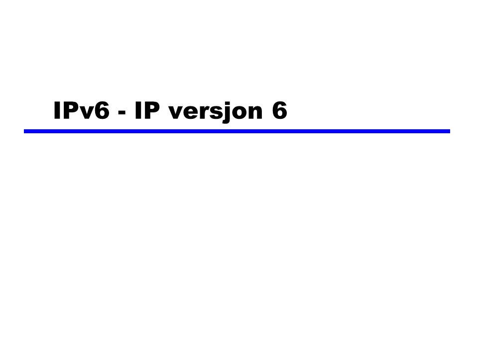 IPv6 - IP versjon 6