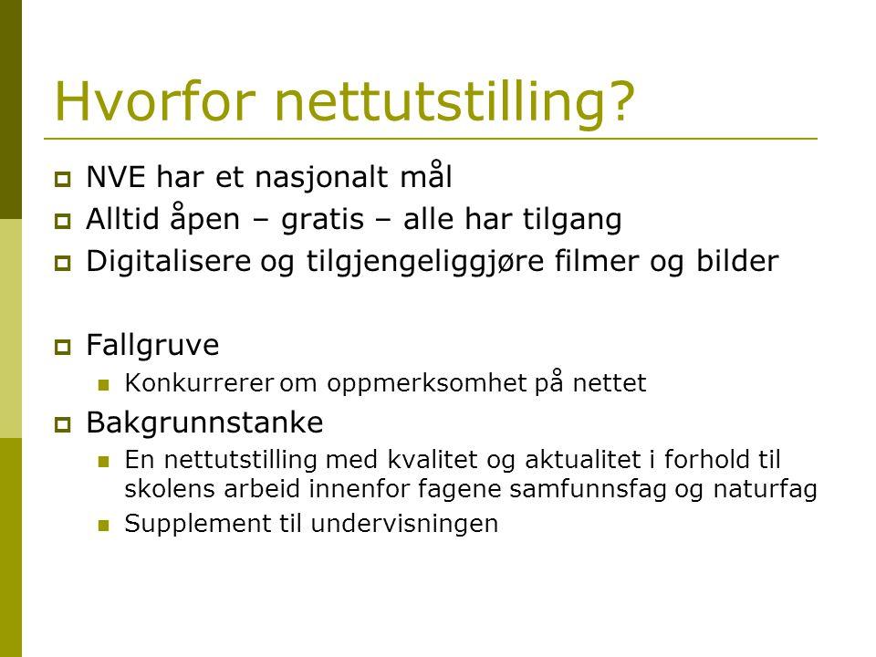 Parter  NVE Tematikk, kunnskap og fotomateriale  Norsk Skogmuseum Prosjektleder Redaktørjobben  Skogbrukets kursinstitutt Teknisk produsent