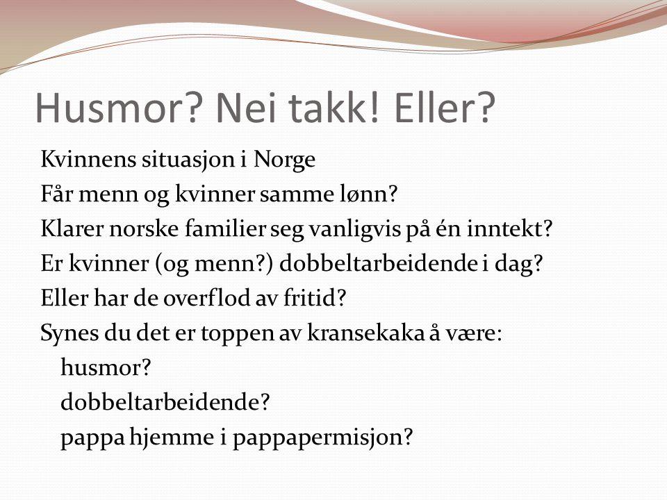 1950-tallet: Husmødrenes tiår Den økonomiske situasjonen etter 2.