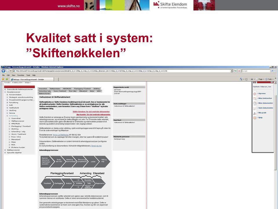 Kvalitet satt i system: Skiftenøkkelen