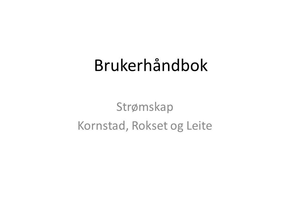 Brukerhåndbok Strømskap Kornstad, Rokset og Leite