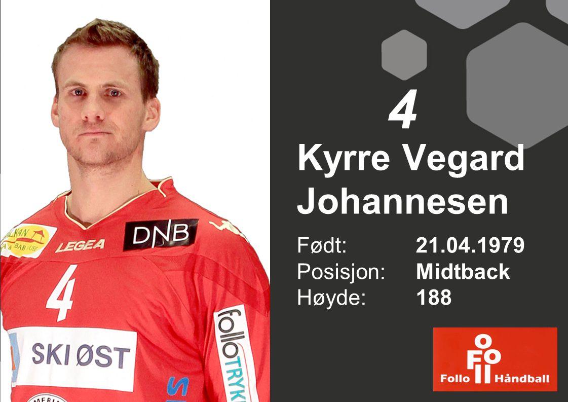 Kyrre Vegard Johannesen Født: 21.04.1979 Posisjon: Midtback Høyde:188 4