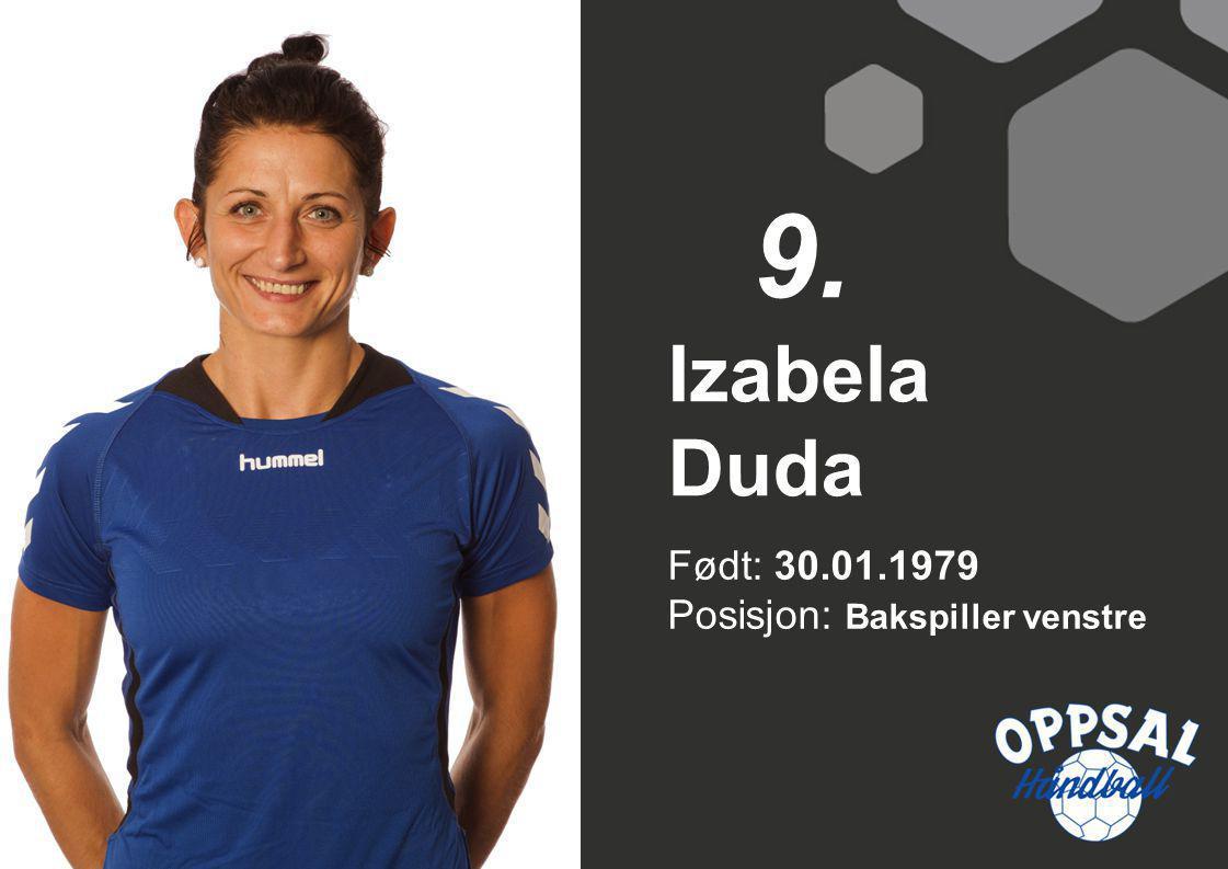 Født: 30.01.1979 Posisjon: Bakspiller venstre Izabela Duda 9.