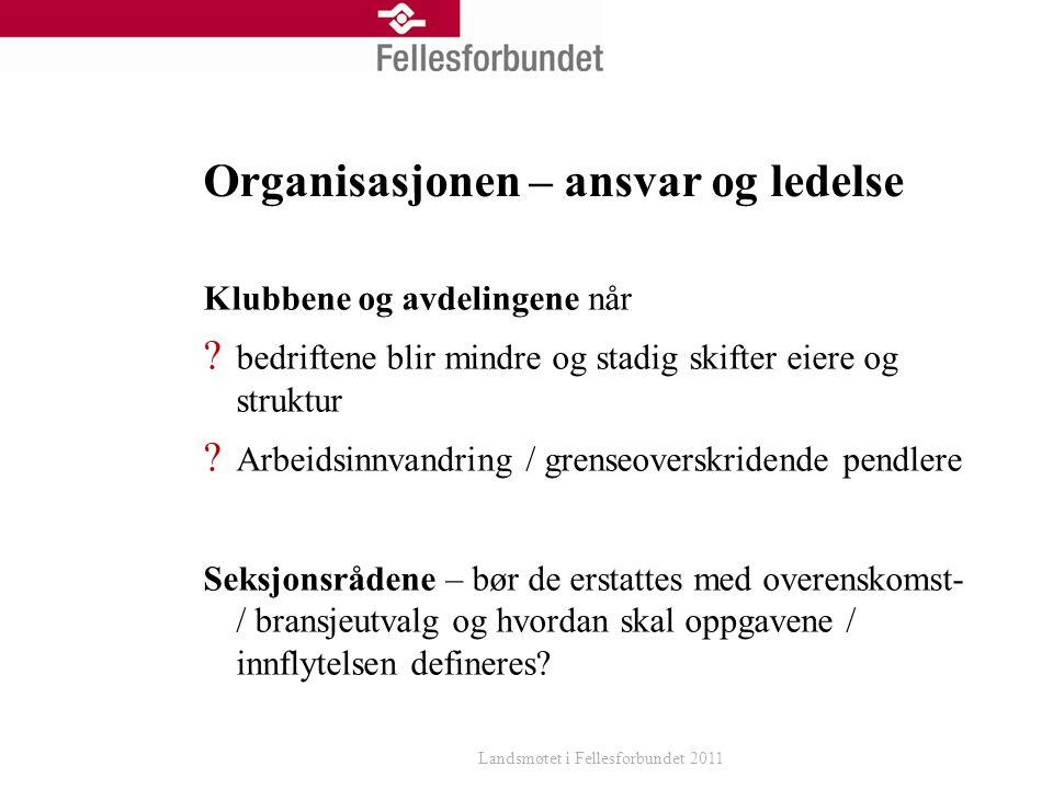 Organisasjonen – ansvar og ledelse Klubbene og avdelingene når .