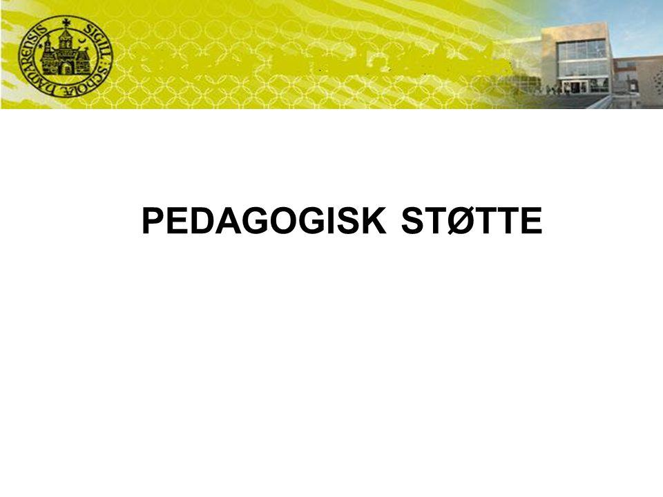 PEDAGOGISK STØTTE