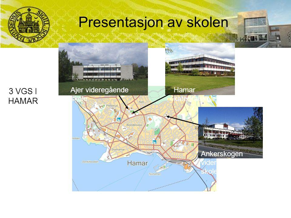 Ajer videregående skole Hamar katedralskole Ankerskogen videregående skole 3 VGS I HAMAR Presentasjon av skolen