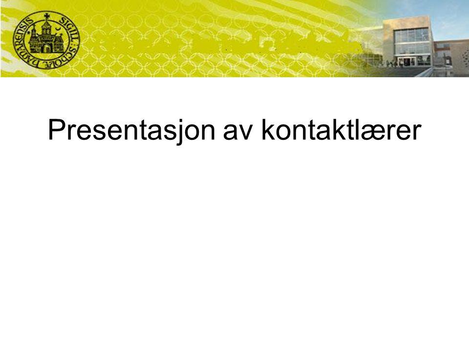 Presentasjon av kontaktlærer