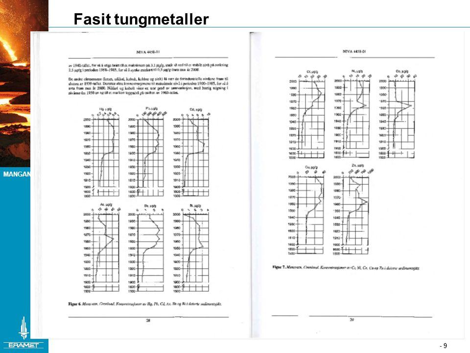 MANGANESE - 9 Fasit tungmetaller