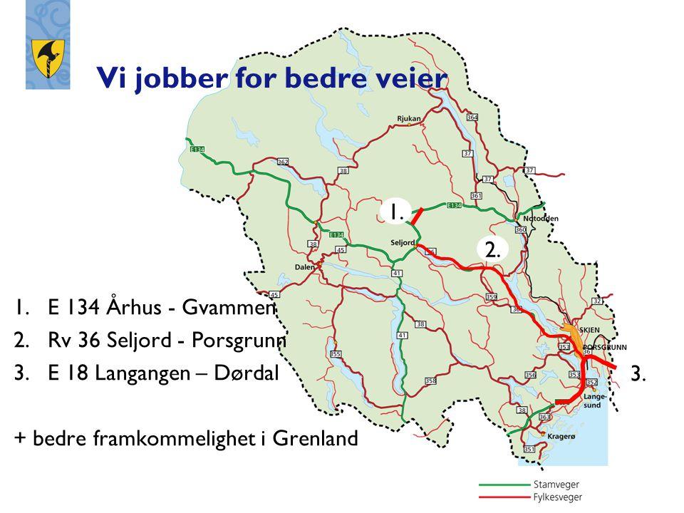 Sørvestbanen Sørvestbanen Bratsbergbanen Bratsbergbanen Eidangerparsellen Vi jobber for bedre jernbane