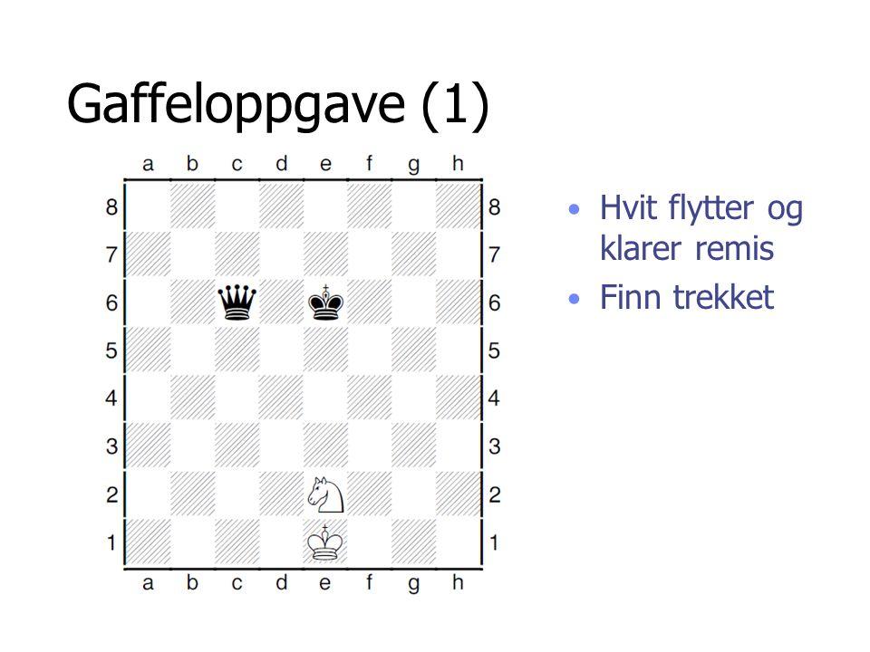 Gaffeloppgave (1) Hvit flytter og klarer remis Finn trekket