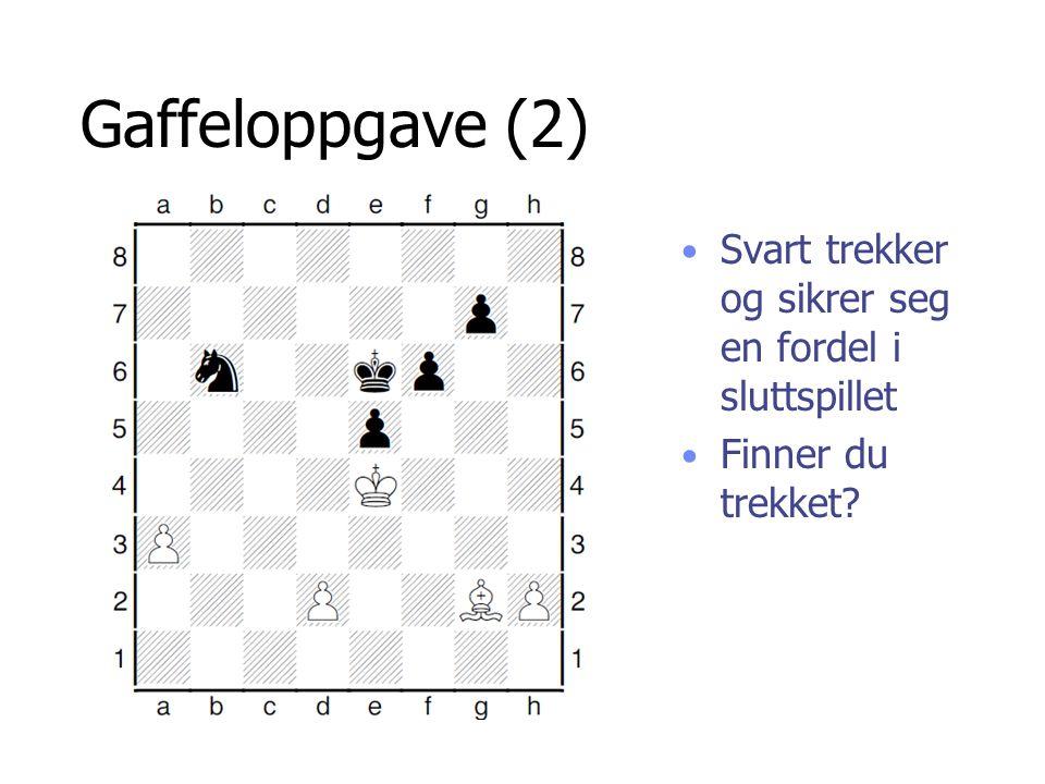 Gaffeloppgave (2) Svart trekker og sikrer seg en fordel i sluttspillet Finner du trekket?
