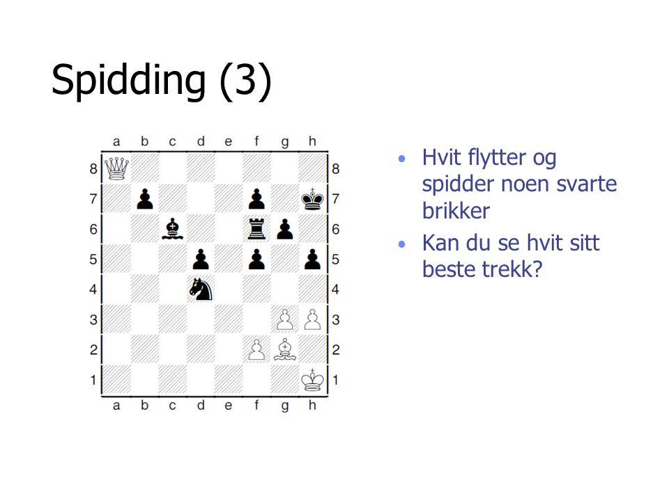Spidding (3) Hvit dronning vinner er springer her.