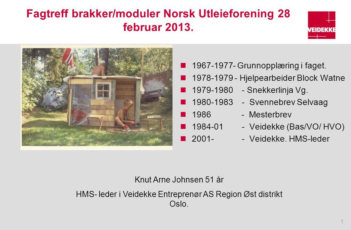 Fagtreff brakker/moduler Norsk Utleieforening 28 februar 2013.