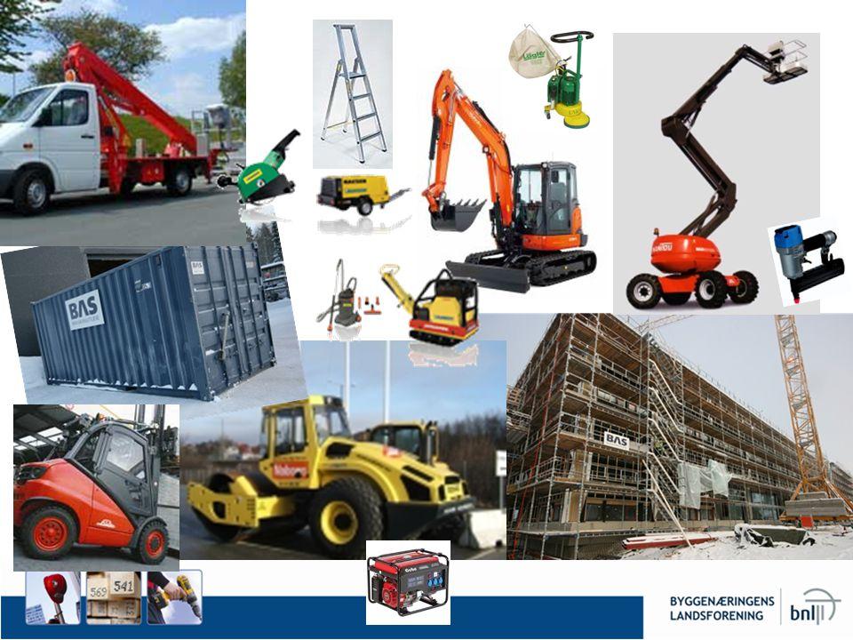 Bedre å leie enn å eie Hmmm… Veldig mye maskiner og utstyr.