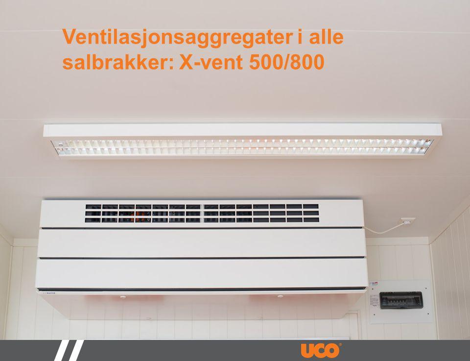 Ventilasjonsaggregater i alle salbrakker: X-vent 500/800