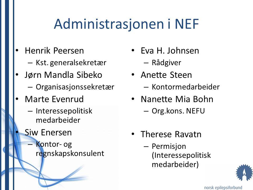 Administrasjonen i NEF Henrik Peersen – Kst.