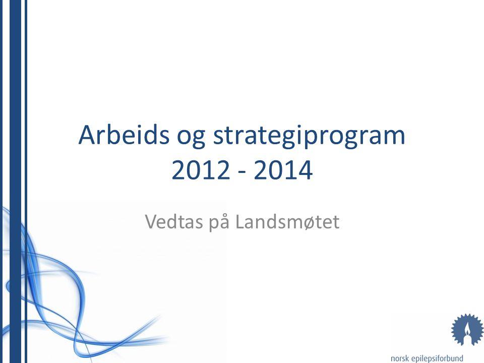 Arbeids og strategiprogram 2012 - 2014 Vedtas på Landsmøtet