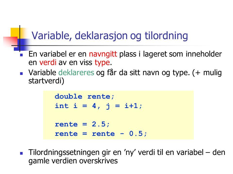 Eksempel 2 : andre skilletegn import java.util.*; import easyIO.*; class TokenizerDemo2 { public static void main(String [] args){ In tast = new In();