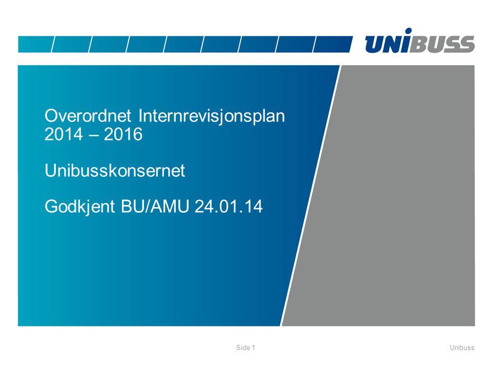 UnibussSide 1 Overordnet Internrevisjonsplan 2014 – 2016 Unibusskonsernet Godkjent BU/AMU 24.01.14