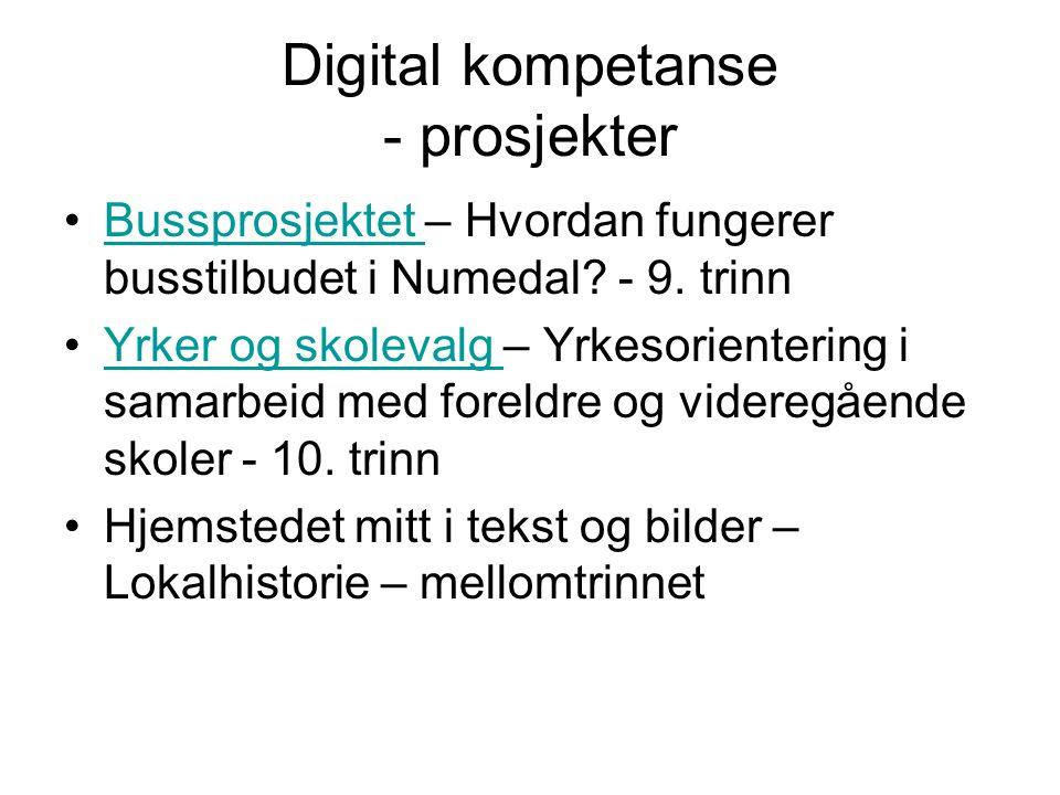 Digital kompetanse - prosjekter Bussprosjektet – Hvordan fungerer busstilbudet i Numedal.